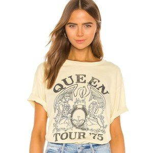 DAYDREAMER Queen Tour '75 Boyfriend Yellow T-Shirt